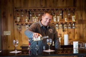 Matt Posey Pours Cider At Bar
