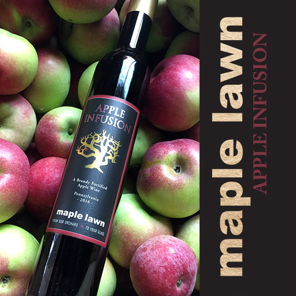 Apple Infusion Wine from Maple Lawn Winery - New Park, PA