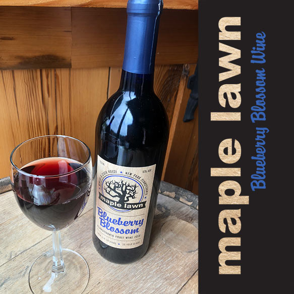 Blueberry Blossom Wine from Maple Lawn Winery - New Park, PA