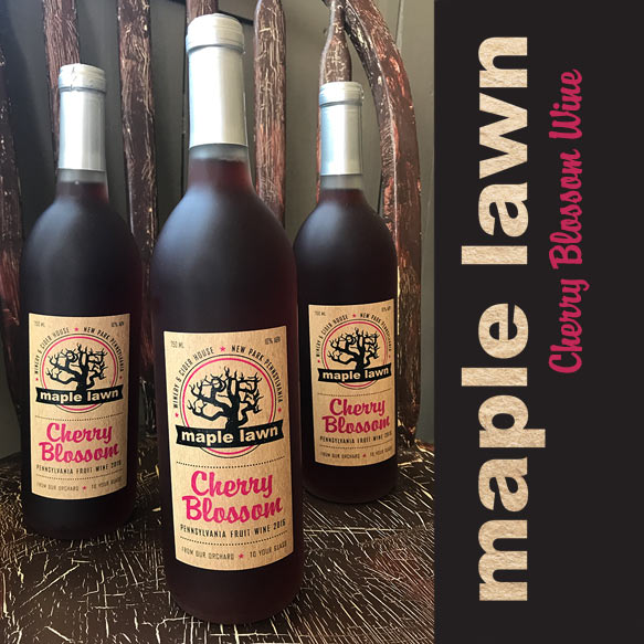 Cherry Blossom Wine from Maple Lawn Winery - New Park, PA