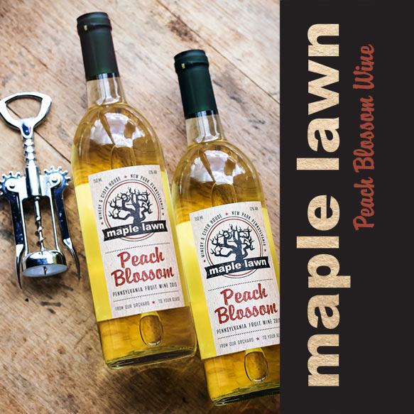 Peach Blossom Wine from Maple Lawn Winery - New Park, PA